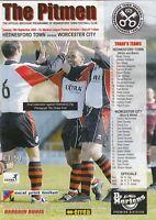 Hednesford Town v Worcester City 2003/4 Dr Martens League
