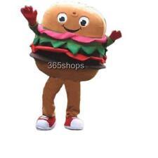 Food Hamburger Mascot Costume Cartoon Clothing Party Fancy Dress