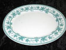Antique Wedgwood & Co Serving Platter Green & White IVY PATTERN Late 19th Cent