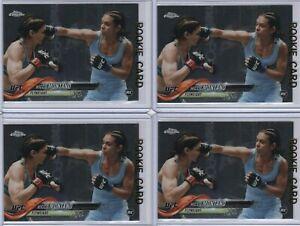 (LOT 4) NICCO MONTANO '18 Topps Chrome WOMENs UFC 1st ROOKIE Rc #12 Gem Mint TUF