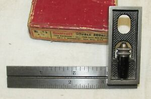 "Vintage Starrett No. 13 4"" Double Square ~ Exc in Original Box c"
