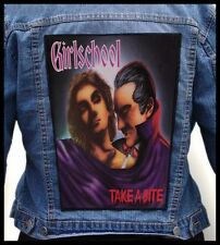 GIRLSCHOOL - Take A Bite  --- Giant Backpatch Back Patch