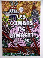 COMBAS Robert Affiche originale Street art Jojo et Momon font de l'aviron Vence