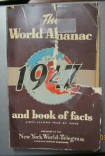 THE WORLD ALMANAC 1947 AND BOOK OF FACTS 912 PAGES NEW YORK ENCYCLOPEDIA