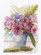 LANARTE  0154327  Flowers in a Bucket  Broderie  Point de Croix  Compté  Aïda