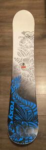 Roxy Womens Snowboard - White, Black & Blue - Size 154cm