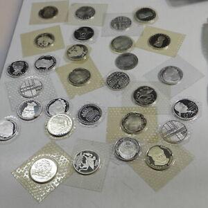 27 x 5 DM Silber BRD Gedenkmünzen PP in Noppenfolie