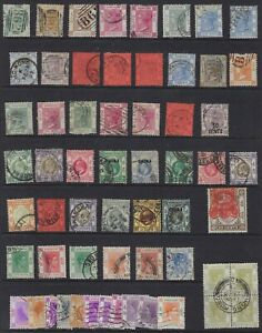 HONG KONG CHINA 1862 1950s COLLECTION OF 230 PLUS USED QUEEN