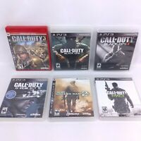 Sony Playstation 3 PS3 Lot of 6 Call of Duty - 3, Black Ops I/II, Ghosts, MW2/3