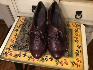 Indigo by Clarks Women's red Leather Lace Up Ankle Boots Heels Sz 9.5 M Shoes