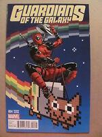 Guardians of the Galaxy #4 Marvel Comics 2015 Series Deadpool Variant 9.6 NM+
