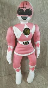 """Mighty Morphin Power Rangers Collectible Plush Pink Ranger 12"""" Doll 1994 Vintage"""