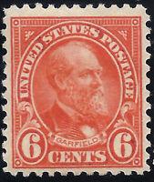 USA Scott #558   MINT-LH   1923  6c  Flat Press  Perforated  11