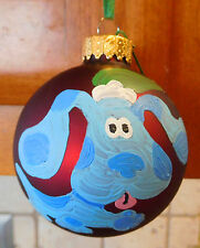 Blue's Clues BLUE Dog Hand Painted CHRISTMAS ORNAMENT Ball Decoration Tree Puppy