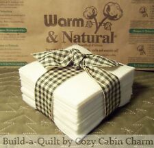 "25 ~ 10"" Warm & Natural Precut Batting Fabric Squares ~ Rag or Quilt as you Go"