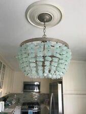 Pottery Barn Enya Seaglass Sea Glass Chandelier