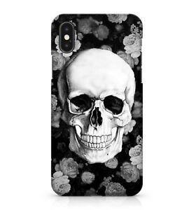 Cheerful Happy Skull Face White Coloured Floral Roses Phone Case Cover