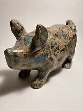 New listing Vintage Paper Mache Pig Covered with Newspaper Comics, Philippines, Folk Art