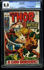 Thor #166 CGC VF 8.0 Off White 2nd HIM (Adam Warlock)! Marvel Comics