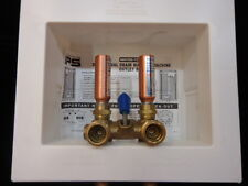 IPS Dual Drain Washing Machine Outlet Box W/Single Lever Hammer Arrester Valves