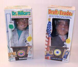 VTG NIB Clinton Dr. Hillcare Draft Evader Toy Doll Bill Hillary Door Window Gag
