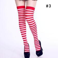 Halloween Xmas Over The Knee Socks Womens Xmas Party Thigh High Long Leg Socks