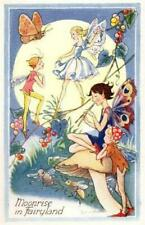 ARTIST SIGNED LORNA STEELE MOONRISE IN FAIRYLAND PIXIE ELVES