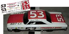 CD_1412 #53 Marty Robbins  Fisherman Wharf  1963 Ford  1:24 Scale Decals