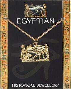 Egyptian Wadjet Eye Pendant  -  Gold Plated