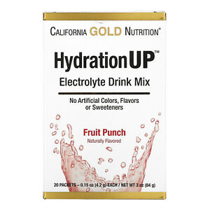 HydrationUP, Electrolyte Drink Mix, Fruit Punch, 20 Packets, 0.15 oz (4.2 g)