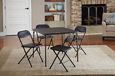 5 Piece Folding Table 4 Chairs Kitchen Dining Set Card Poker Wedding Banquet