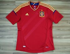 SPAIN NATIONAL TEAM HOME FOOTBALL SHIRT 2012/2013 JERSEY SIZE ADULT LARGE RED