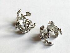 5 x Brass Flower Bead Caps