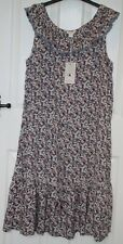- Monsoon Ditsy Pinky Lilac Flower Print Frill Neck Sleeveless Dress 12