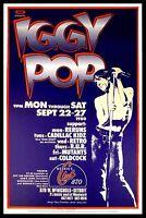 Iggy Pop FRIDGE MAGNET 6x8 Live at Bookies Club Detroit Magnetic Concert Poster
