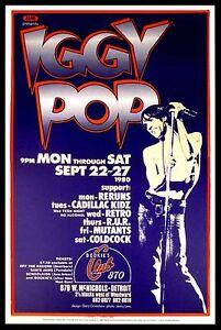 Iggy Pop Live at Bookies Concert Poster Canvas Print Fridge Magnet 6x8 Large