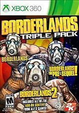 Borderlands Triple Pack (Microsoft Xbox 360) Brand New Fast Shipping New Sealed