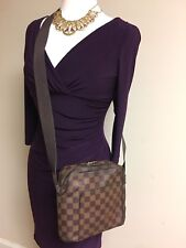 AUTH LOUIS VUITTON Olav PM Damier Ebene Cross Body Shoulder Bag US SELLER