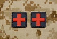 2 x 3D PVC Medic Red Cross EMT PJ EMS Paramedic Combat Medic 1