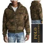 NWT $228 Polo Ralph Lauren LARGE & XL Sherpa Fleece Zip Up Hoodie in Green Camo