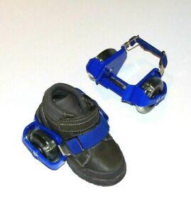 Heelies; Blue Light Up Strap On 2-Wheeled Skates with Storage Bag