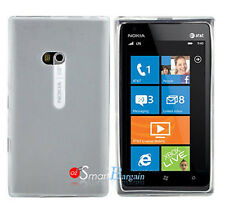 New WHITE Soft Gel TPU Cover Case For NOKIA Lumia 900 + Screen Protector
