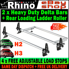 (L3-STANDARD L4-LONG H2-H3) MAN TGE Roof Bars x2 With Roller (T-TRACK) 2017-2020