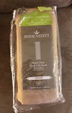Royal Velvet Supreme Pinch-Pleat/Back-Tab Lined Panel 75X84, Soft Gold