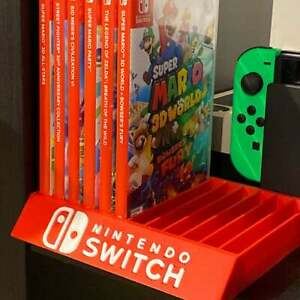 Nintendo Switch Game Case Holders - Fits up to 12 Games - Raised Lettering