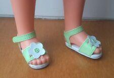 Chaussures verte sandales pour poupée Betsie de Bella vetement bottes