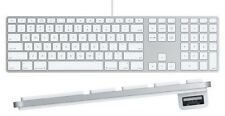 APPLE GENUINE MAC IMAC WIRED A1243 ALUMINIUM KEYBOARD FULL SIZE NUMERIC KEYPAD