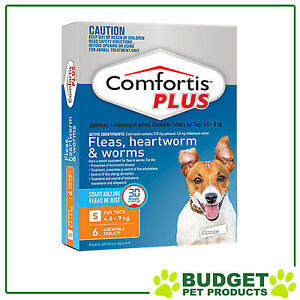 Comfortis Plus For Dogs Orange Small 4.6-9kg 6 Pack