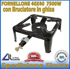 FORNELLO FORNELLONE A GAS 4 PIEDI BRUCIATORE GHISA CUCINARE POMODORO EUROCAMPING