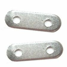 100 pcs 2 Hole Iron Spacer Bars Findings- Silver - A5660